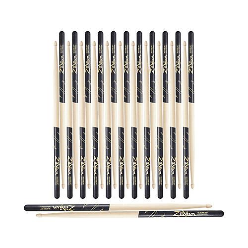 Zildjian Black DIP Acorn Tip Drum Sticks 12-Pack