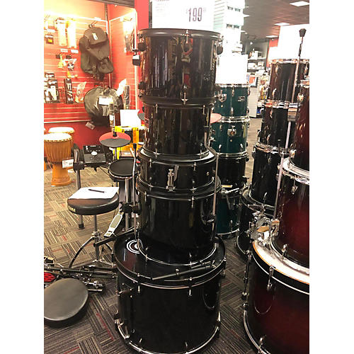 Gammon Percussion Black Drum Kit