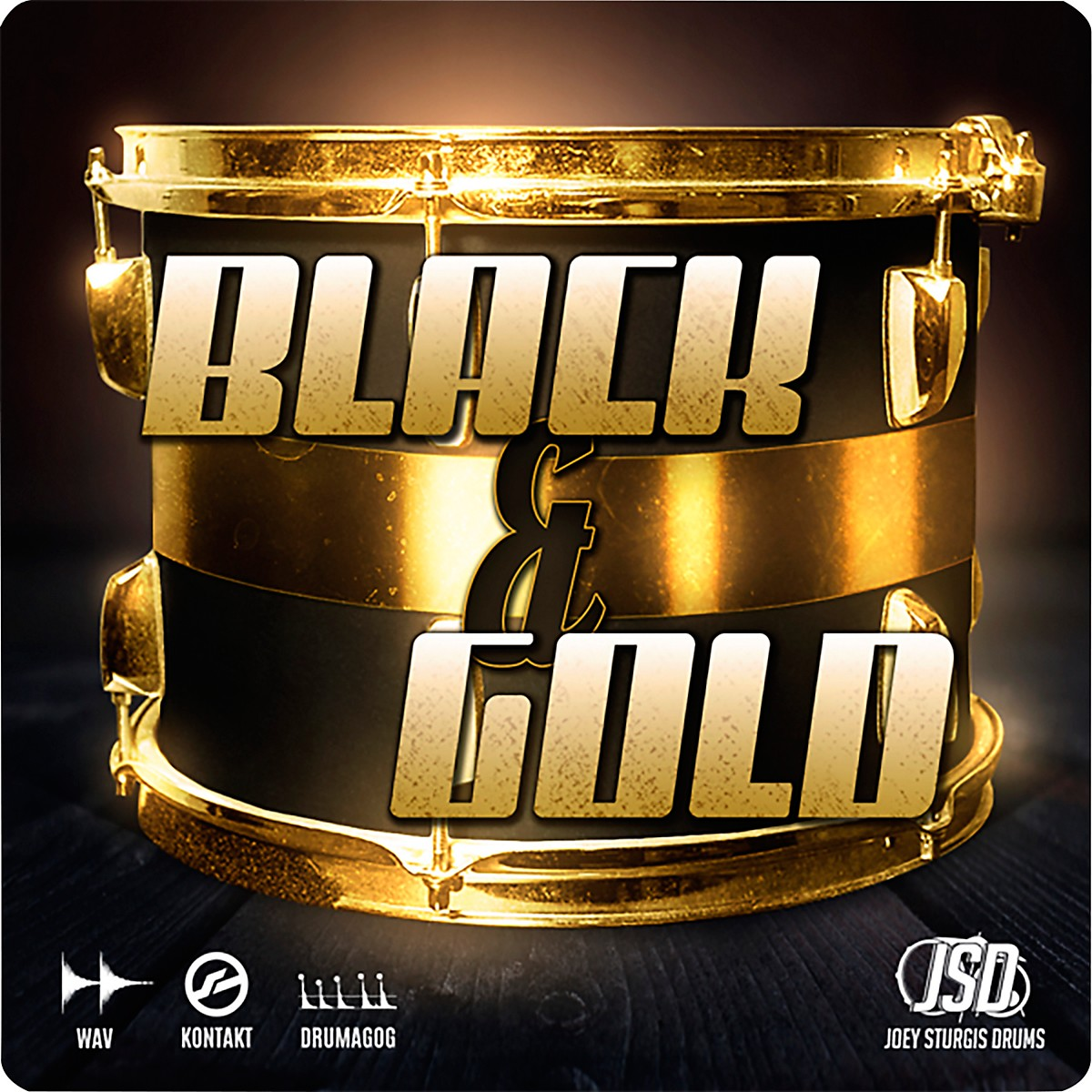 Joey Sturgis Drums Black & Gold Full