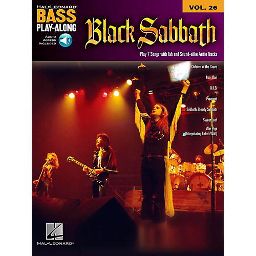 Hal Leonard Black Sabbath Bass Play-Along Volume 26 Book/Online Audio