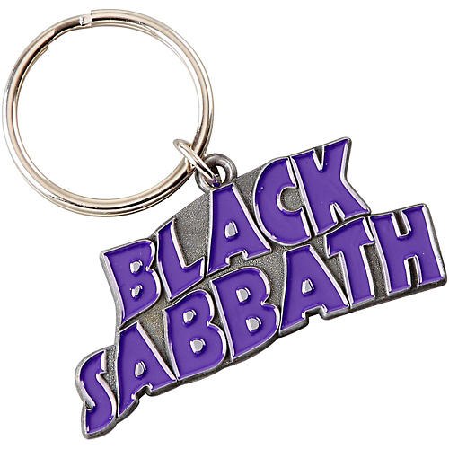 ROCK OFF Black Sabbath Wavy Logo Keychain