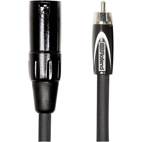 Roland Black Series XLR (Male) - RCA Interconnect Cable