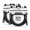 2-Pack Roland Black Series XLR 20 ft. Microphone Cable