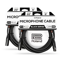 2-Pack Roland Black Series XLR Microphone Cable 20 ft.