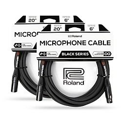 2-Pack Roland Black Series XLR 20 ft. Microphone Cable (Black)