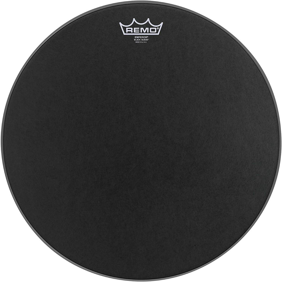 Remo Black Suede Emperor Batter Drumhead
