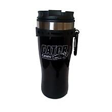 Gator Black Travel Mug with Black and White Gator Cases Logo