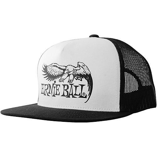 Ernie Ball Black & White Trucker Cap w/ Ernie Ball Eagle