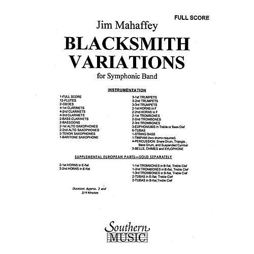 Southern Blacksmith Variations (Band/Concert Band Music) Concert Band Level 3 Composed by Jim Mahaffey