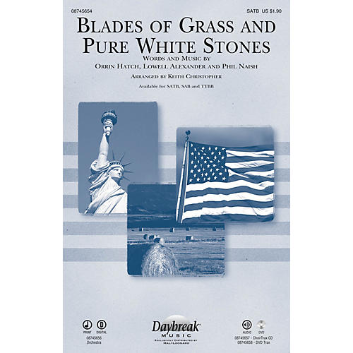Daybreak Music Blades of Grass and Pure White Stones CHOIRTRAX CD Arranged by Keith Christopher