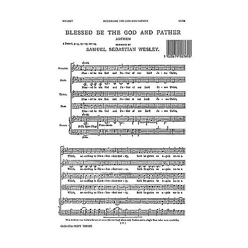 Novello Blessed Be the God and Father SATB, Organ Composed by Samuel Sebastian Wesley