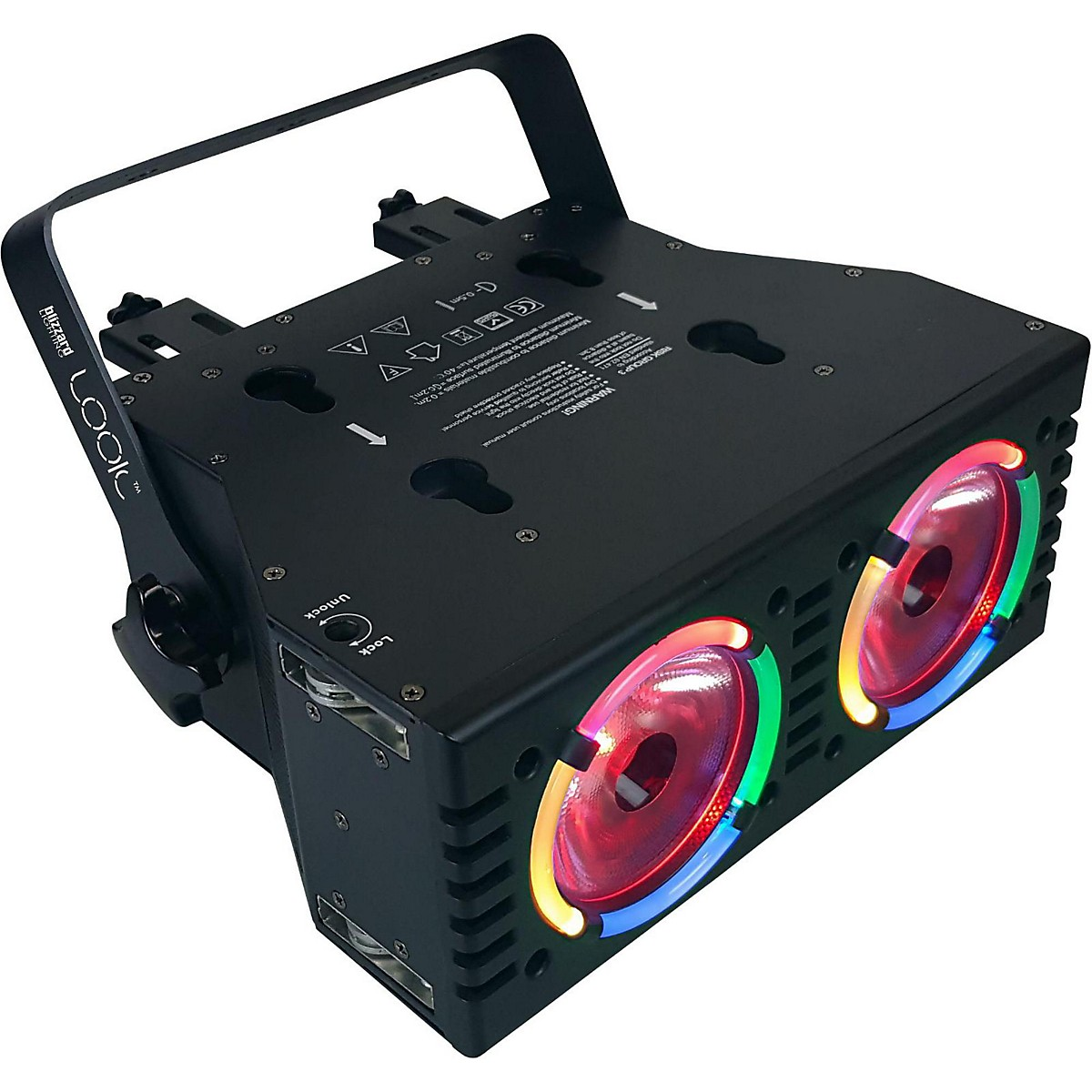 Blizzard Blizzard LOOK Dual 60W RGBW beams with RGB Aura Effects