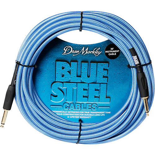 Dean Markley Blue Steel Cable, Straight/Right Angle