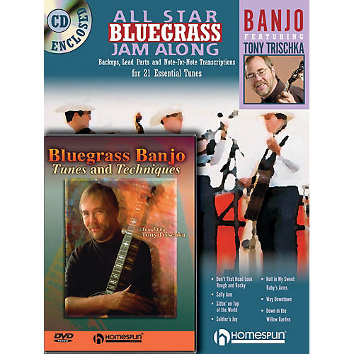 Homespun Bluegrass Banjo Pack Homespun Tapes Series Performed by Tony Trischka