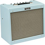 Fender Blues Junior IV Limited Edition Stealth 15W 1x12 Tube Guitar Combo Amplifier Sonic Blue
