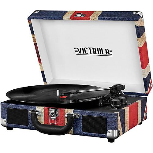 victrola bluetooth portable suitcase record player guitar center. Black Bedroom Furniture Sets. Home Design Ideas