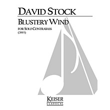 Lauren Keiser Music Publishing Blustery Wind (Double Bass Solo) LKM Music Series Composed by David Stock