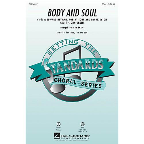 Hal Leonard Body and Soul SSA by Tony Bennett arranged by Kirby Shaw