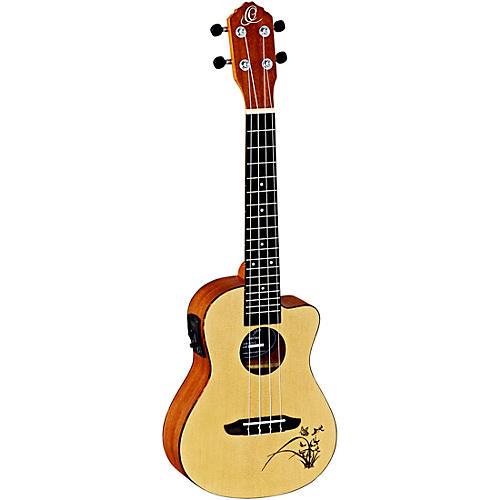 ortega bonfire ru5ce concert acoustic electric ukulele with cutaway natural guitar center. Black Bedroom Furniture Sets. Home Design Ideas