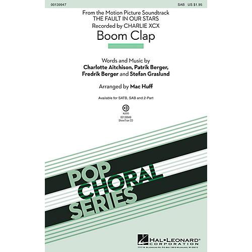 Hal Leonard Boom Clap SAB by Charli XCX arranged by Mac Huff