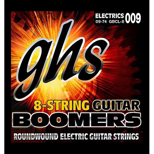 GHS Boomer 8 String Custom Light Electric Guitar Set (9-74)