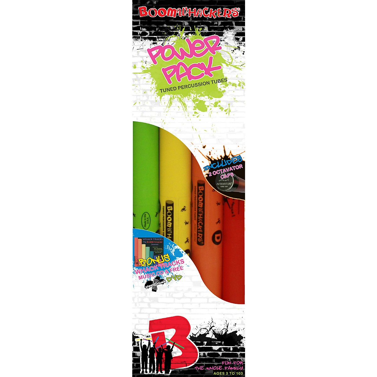 Rhythm Band Boomwhackers Power Pack 8-Note Diatonic Kit With CD and DVD