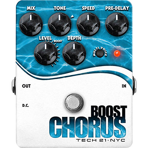 Tech 21 Boost Chorus Guitar Effects Pedal