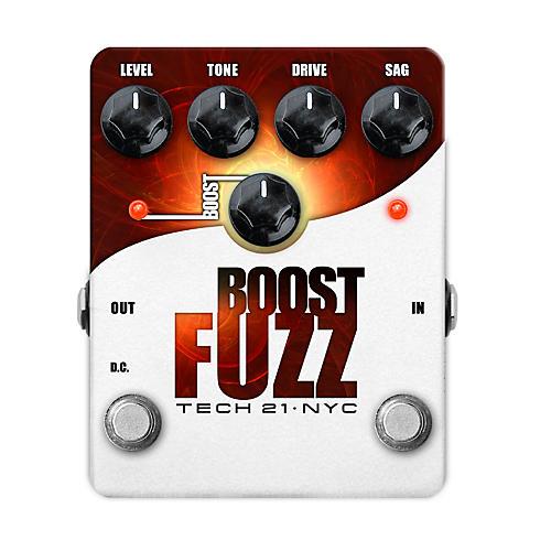 Tech 21 Boost Fuzz Analog Fuzz Guitar Effects Pedal