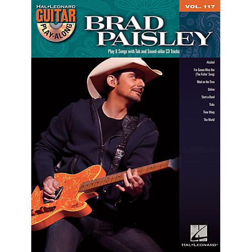 Hal Leonard Brad Paisley - Guitar Play-Along Volume 117 Book/CD