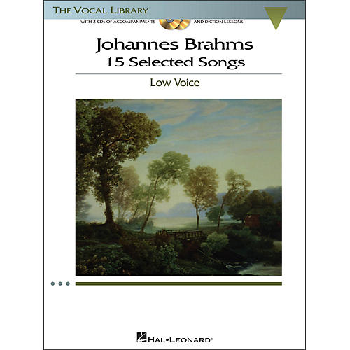 Hal Leonard Brahms - 15 Selected Songs for Low Voice (The Vocal Library Series) Book / 2 CD's