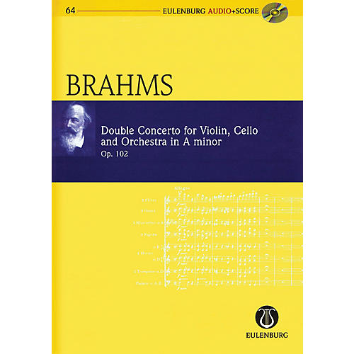 Eulenburg Brahms - Double Concerto for Violin, Cello, and Orchestra in A-minor Op. 102 Study Score w/ CD