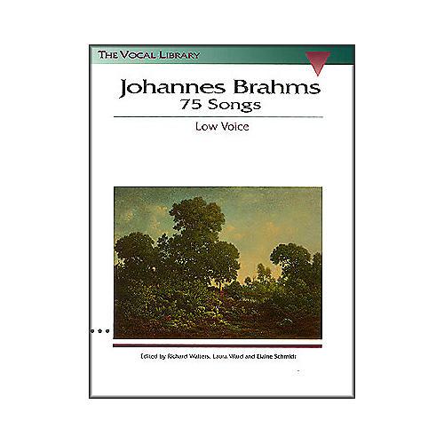 Hal Leonard Brahms 75 Songs for Low Voice