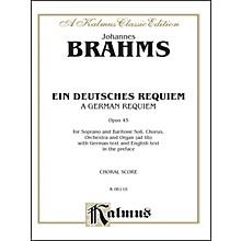 Alfred Brahms German Requiem (Ein Deutsches Requiem) Op. 45 SATB with S. Bar Soli
