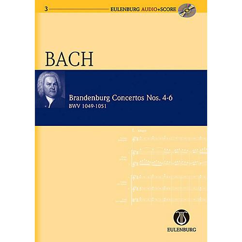 Eulenburg Brandenburg Concertos 4-6 BWV 1049/1050/1051 Eulenberg Audio plus Score Series by Johann Sebastian Bach