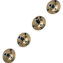 Brass Cymbals with Knobs Finger Cymbals, Two Pair With Straps