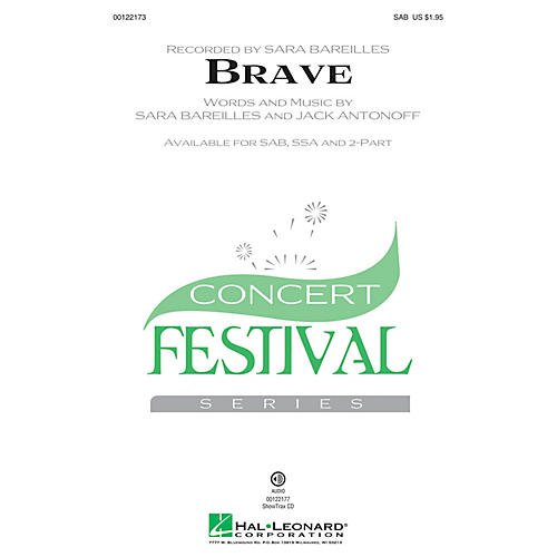 Hal Leonard Brave SSA by Sara Bareilles Arranged by Audrey Snyder