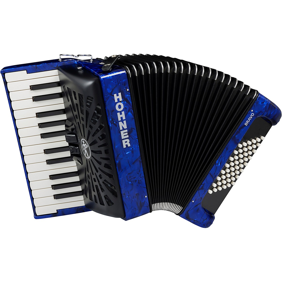 Hohner Bravo II 48 Accordion with Black Bellows