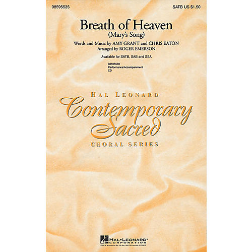 Hal Leonard Breath of Heaven (Mary's Song) SAB by Amy Grant Arranged by Roger Emerson