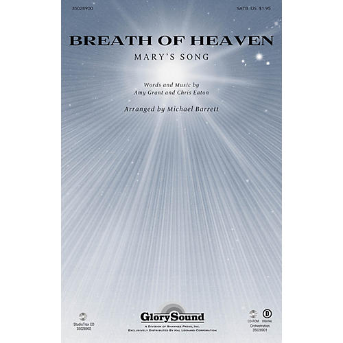 Shawnee Press Breath of Heaven (from All Is Well) Studiotrax CD by Amy Grant Arranged by Joseph M. Martin