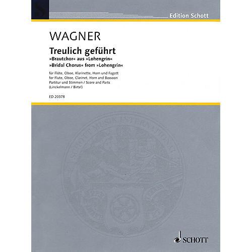 Schott Bridal Chorus Woodwind Ensemble Softcover  by Richard Wagner Arranged by Joachim Linckelmann