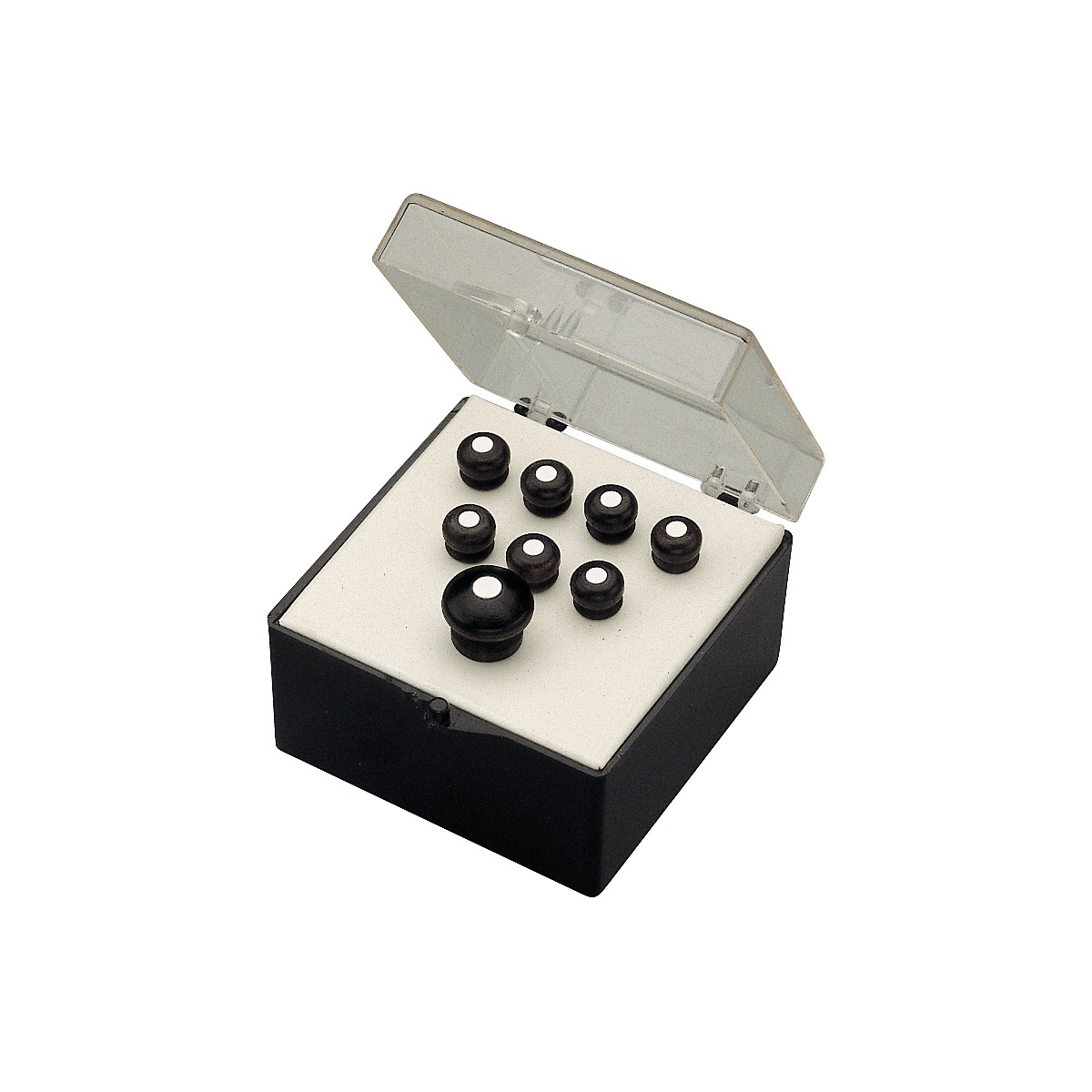 Martin Bridge and End Pin Set in Black with White Dots