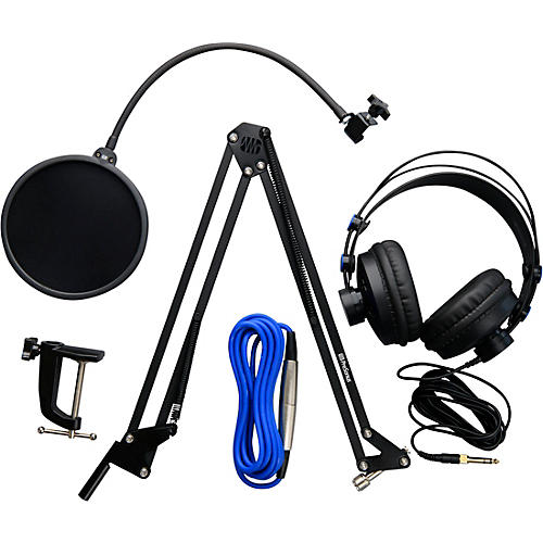 PreSonus Broadcast Accessory Pack - Includes Microphone Boom Arm, Pop Filter, HD-7 Headphones & XLR Cable