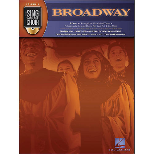 Hal Leonard Broadway - Sing with The Choir Series Volume 2 Book/CD