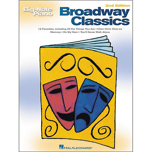 Hal Leonard Broadway Classics for Big Note Piano 2nd Edition