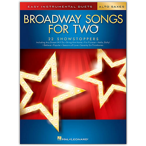 Hal Leonard Broadway Songs for Two Alto Saxophones  - Easy Instrumental Duets