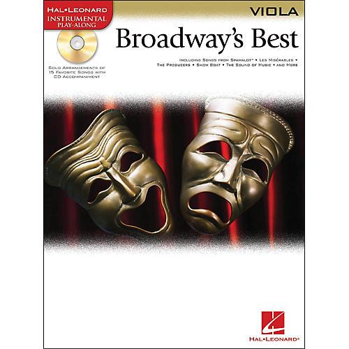 Hal Leonard Broadway's Best For Viola Book/CD