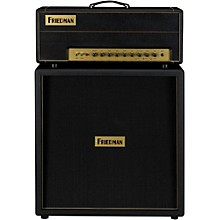Friedman Brown Eye 100W 2-Channel Tube Guitar Head Black with 4x12 Guitar Cabinet