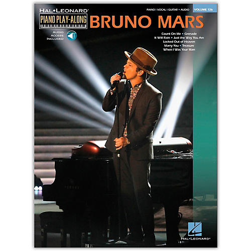 Hal Leonard Bruno Mars - Piano Play-Along Volume 126 Book/Online Audio
