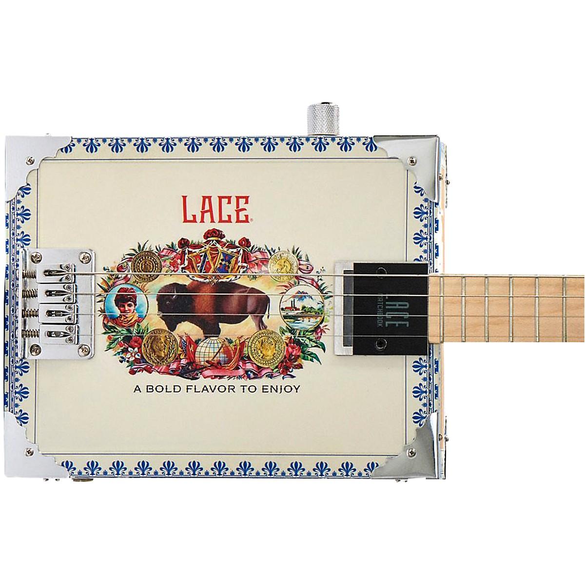 Lace Buffalo Bull Acoutic-Electric Cigar Box Guitar