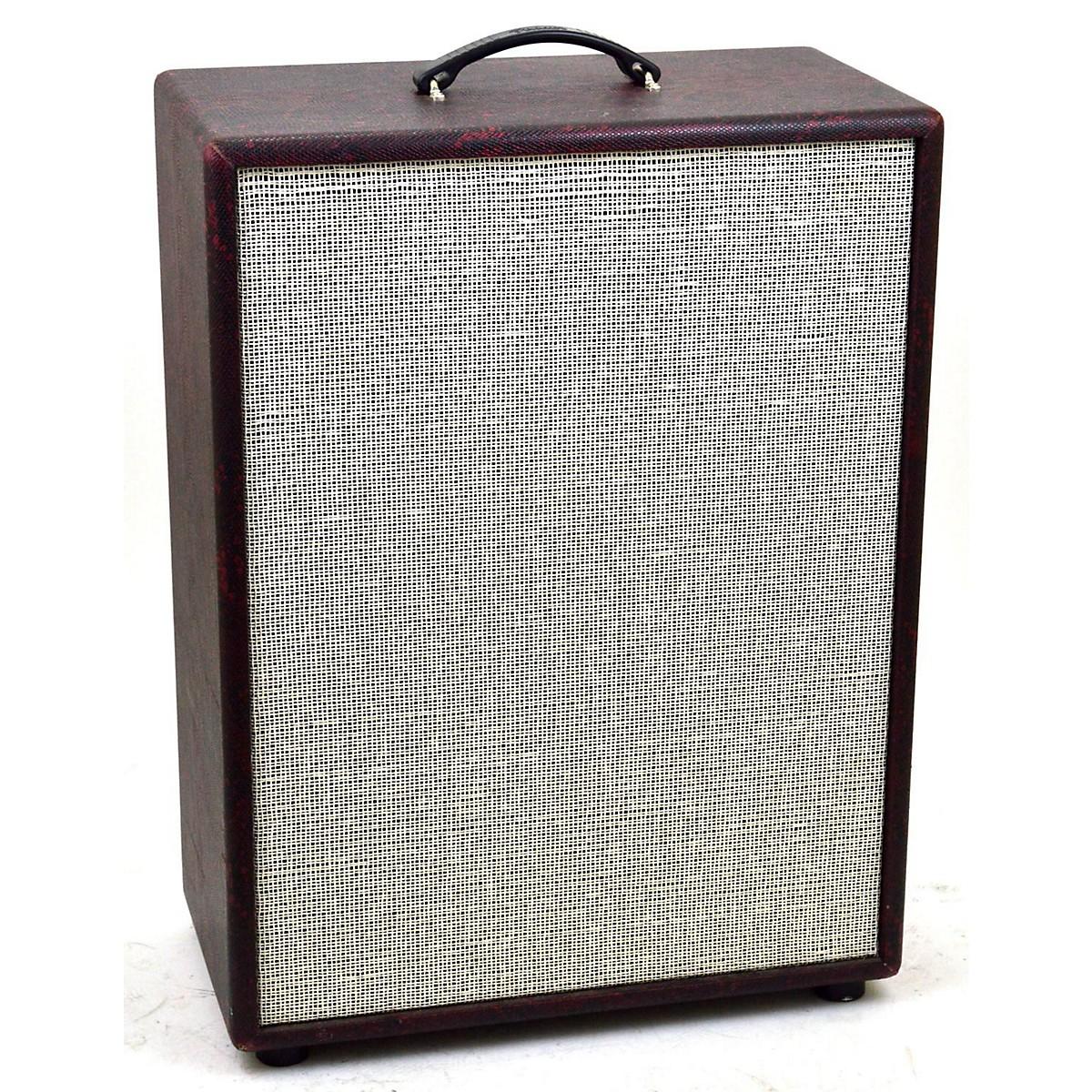 Mojotone Burgundy Snakeskin Vertical 2X12 Guitar Cabinet